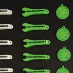 Serie di gadgets aziendali in PLA