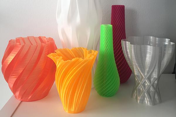 Vasi realizzati con stampa 3d